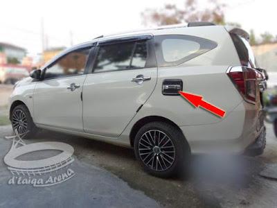 Letak TutupTangki Bensin Toyota Calya