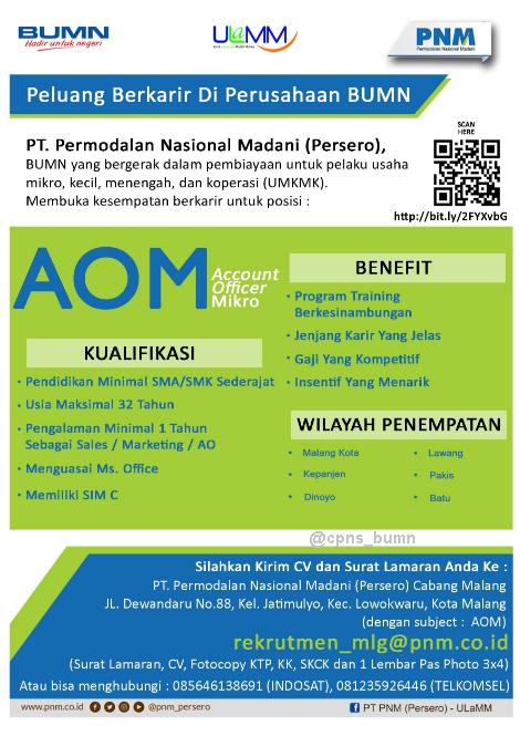 Kesempatan berkarir di BUMN PT Permodalan Nasional Madani (Persero) Tingkat SMK/SMA
