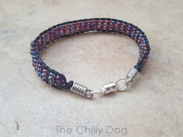 How to make a wrapped, beaded ladder bracelet.