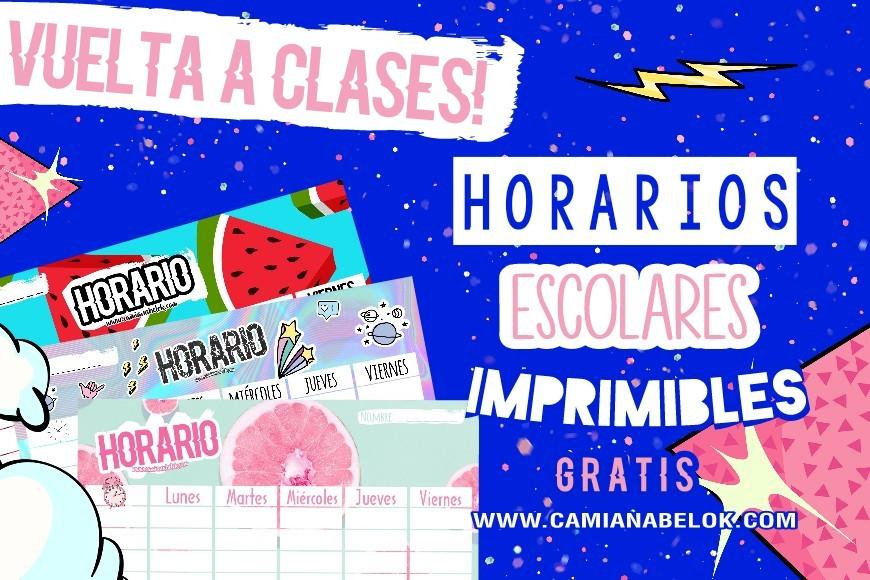 Horarios Escolares Imprimibles 📚💙 •FREEBIES• - CamiAnabelOk ...