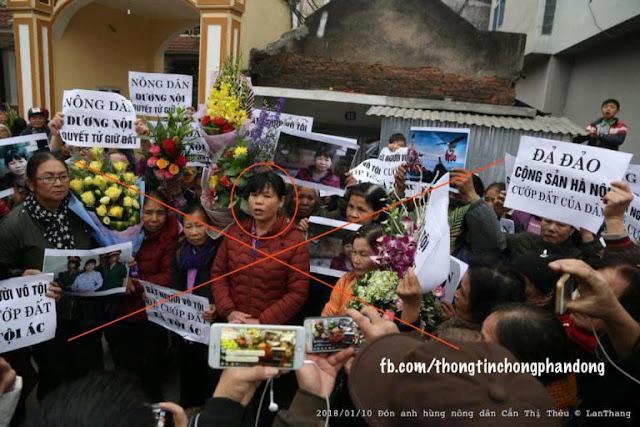 Cấn Thị Thêu vừa ra tù lần hai đã ngay lập tức chống đối