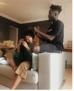 Mr Eazi And Temi Otedola Share Couple Goals As He makes Her Hair