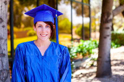 image of heather lyn ashman in cap and gown