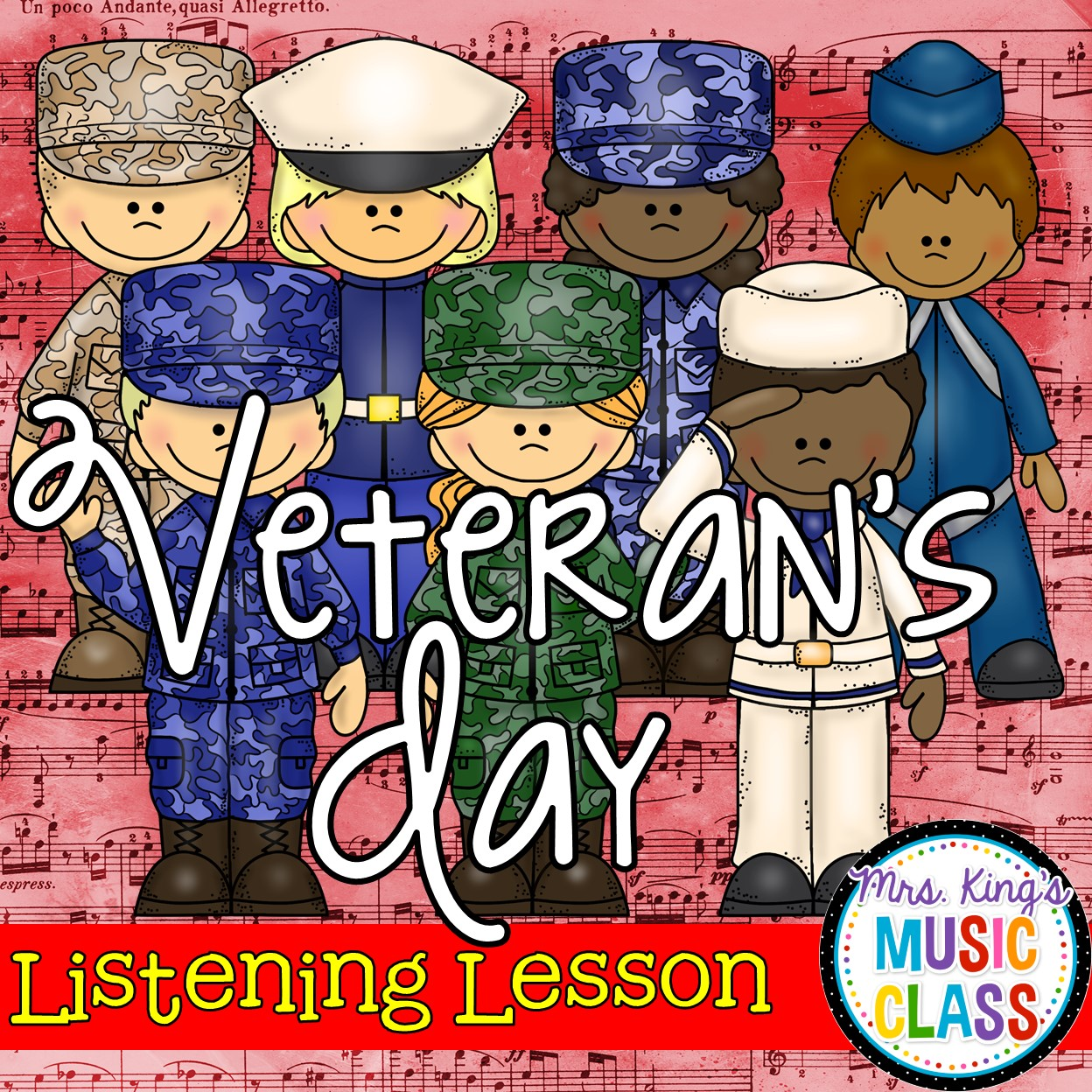 Mrs. King's Music Class: Veteran's Day Listening Lesson [ 1248 x 1248 Pixel ]