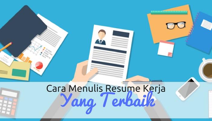 cara menulis resume