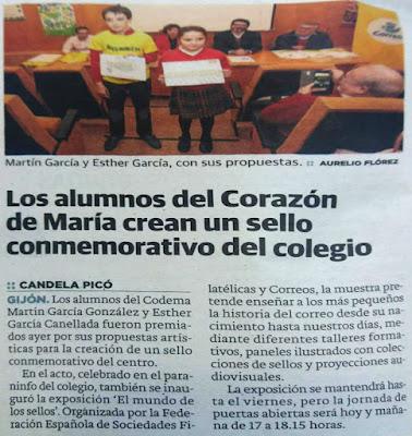 Exposición Itinerante en el Colegio Corazón de María de Gijón