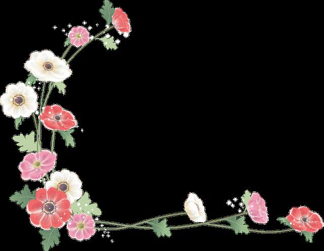 Marcos Esquineros Para Fotos De Flores: Realistic Flowers: Free Scrapbooking Corners For Weddings