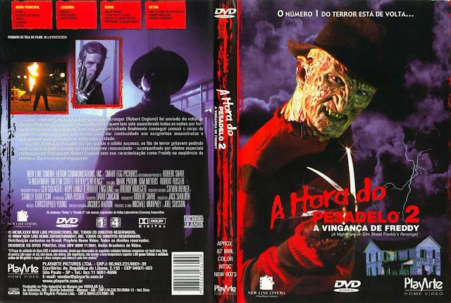 Capa DVD A Hora do Pesadelo 2 A Vingança de Freddy