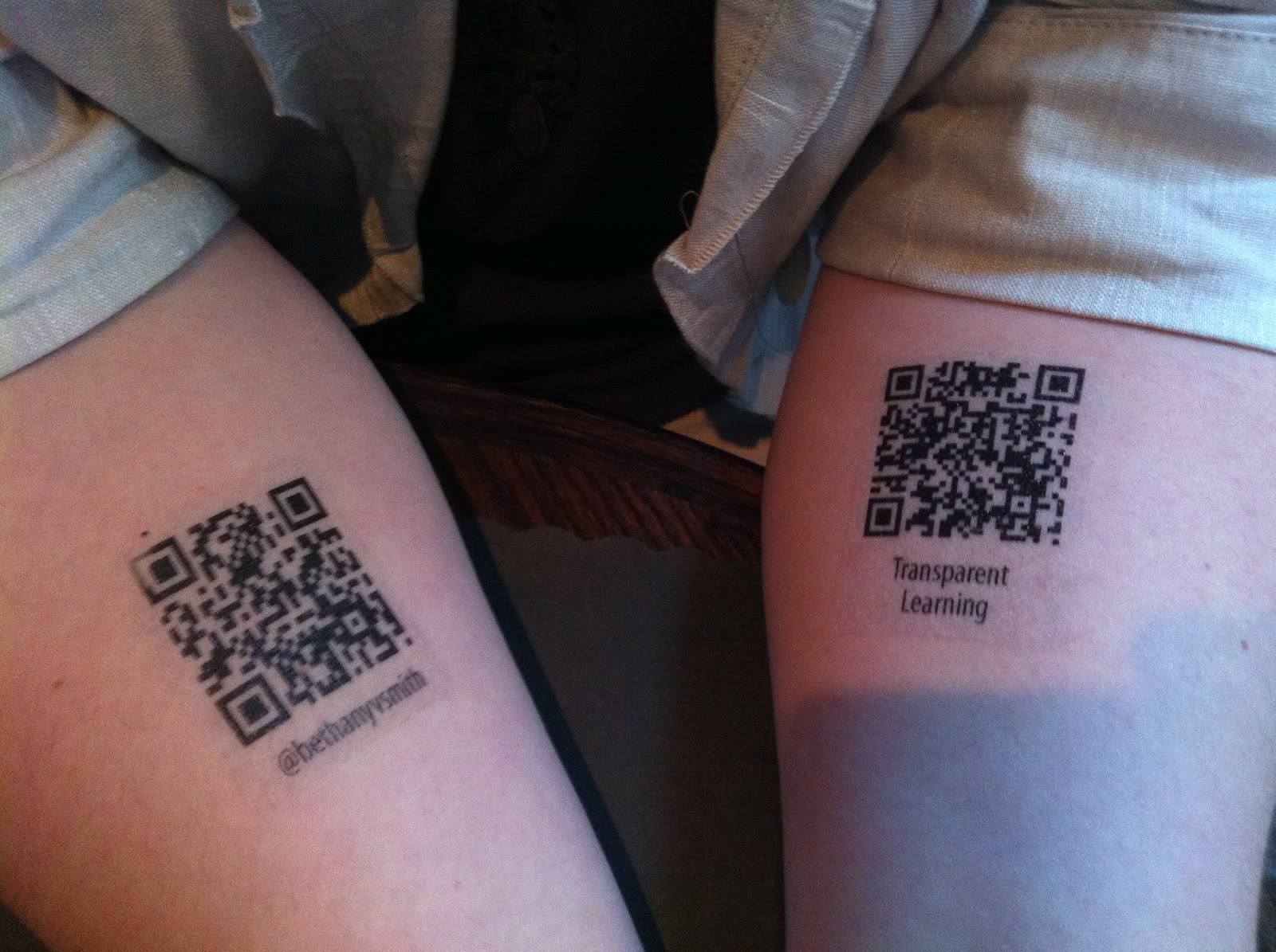 Transparent Learning: The Girl with the QR Code Tattoo