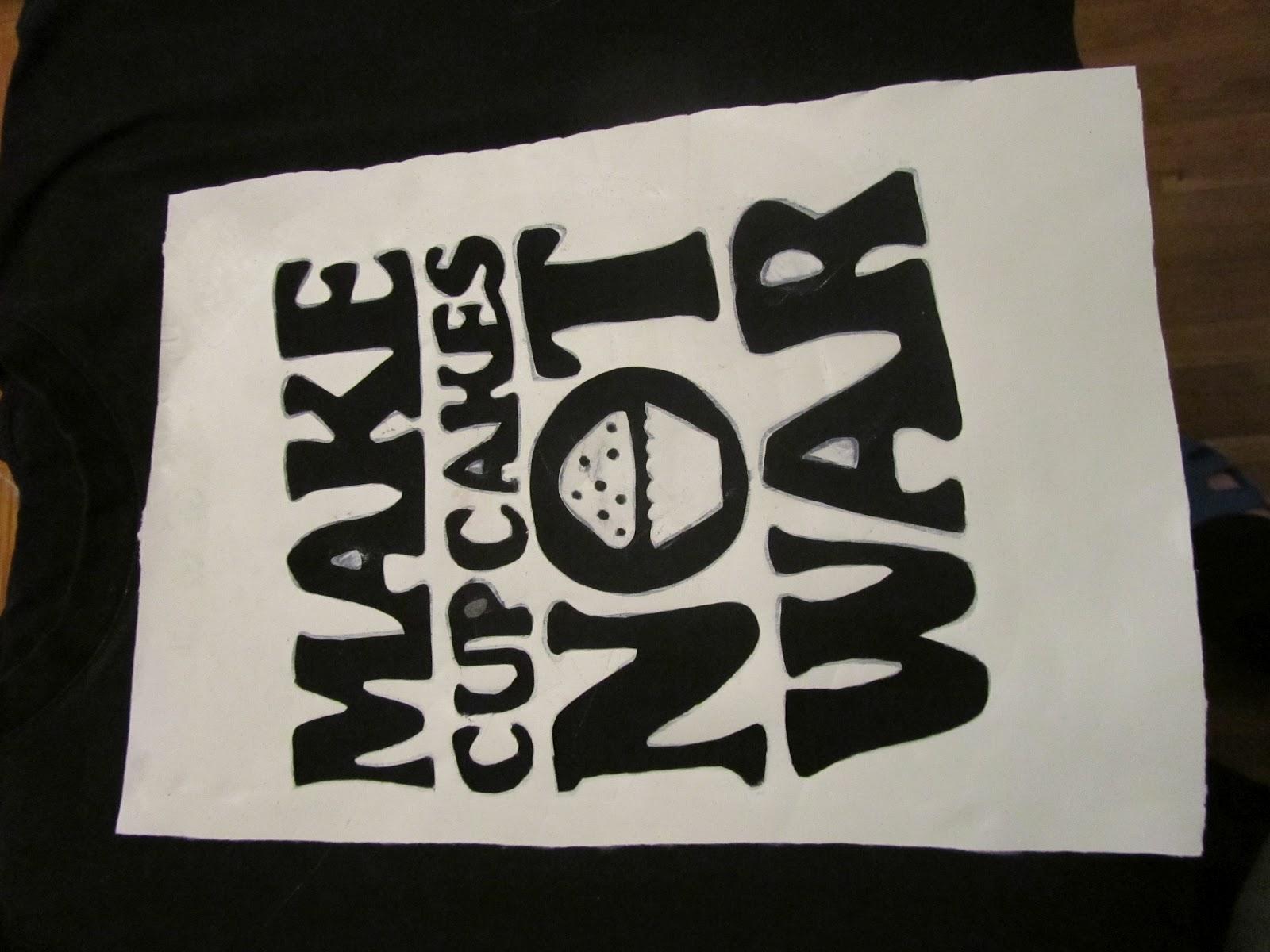 ecace3de5605 Dovnútra trička je dobré vložiť niečo aby sa farba nedostala aj na zadnú  stranu. výkres alebo sáčok alebo niečo