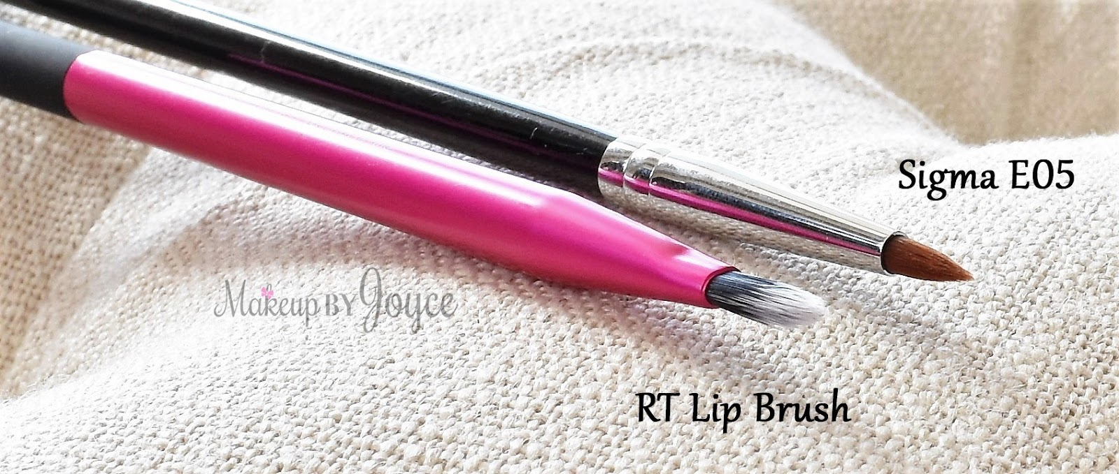 Real Techniques Lip Brush vs Sigma E05 Eyeliner Review