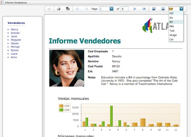 Report en PDF con Atlas SBI