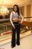 Catherine Tresa in a White Glittering Crop Top Black Leggings  Exclusive 04.JPG