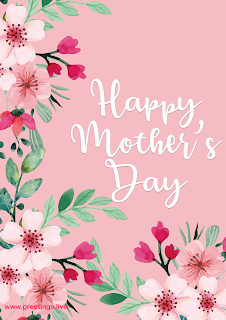 happy mothers day greetings card flowers