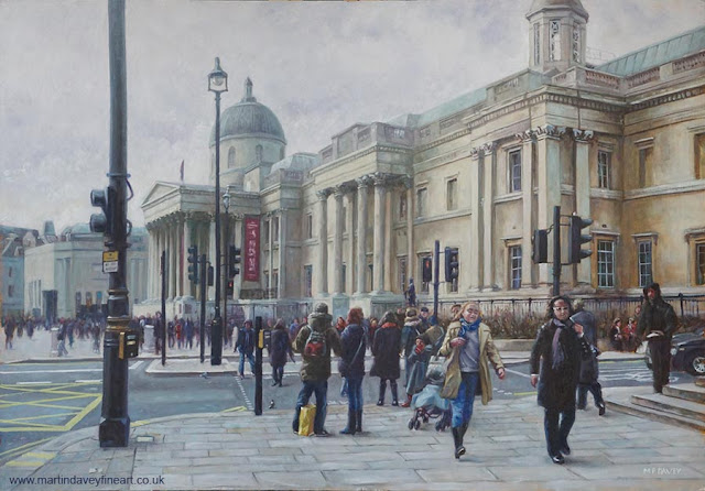 oil painting London landmark martin davey