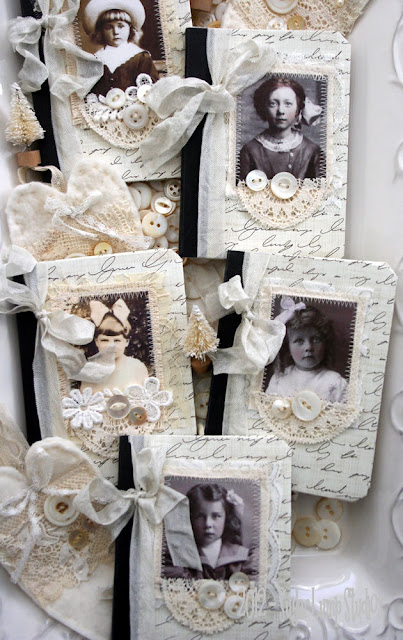shabby white journals by Nancy of Sugar Lump Studios