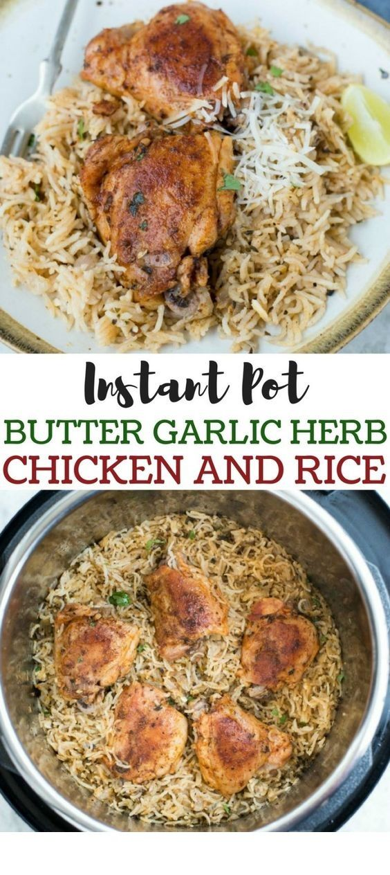 Instant Pot Butter Garlic Herb Chicken And Rice