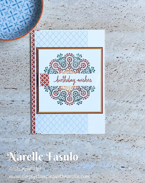 Morrocan Suite -Simply Stamping with Narelle -available here - https://www3.stampinup.com/ECWeb/ItemList.aspx?categoryID=31006&dbwsdemoid=4008228