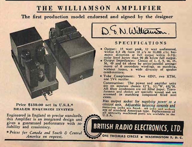 The Williamson Amplifier - British Radio Electronics