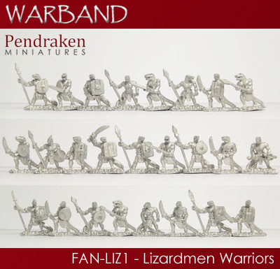 FAN-LIZ1 - 25 x Lizardmen Warriors
