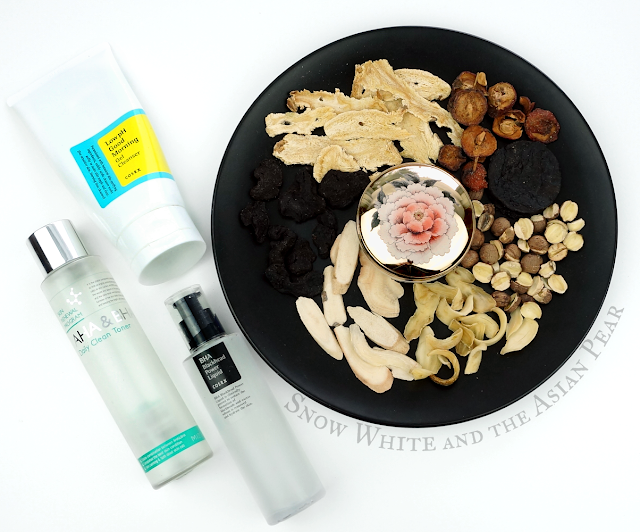 Photo of Cosrx low pH cleanser, Mizon AHA BHA toner, Cosrx BHA, and Sulwhasoo cushion