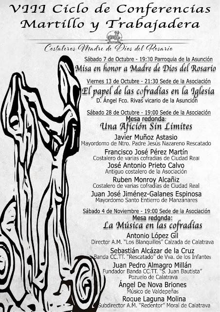 """VIII Ciclo de conferenicas """"Martillo y Trabajadera"""""""