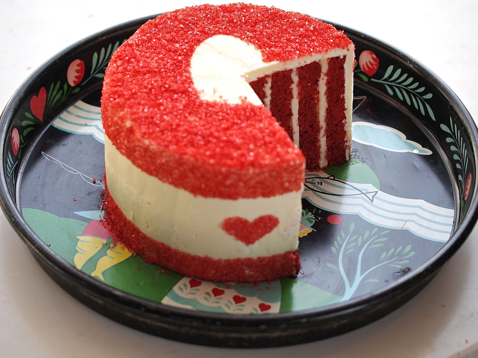 Red Velvet Piece Of My Heart Cake