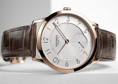 Hermès - Slim d'Hermès, New Model 2016 small seconds rose gold case