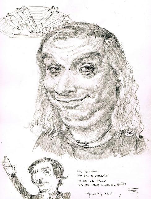 Peter Capussoto Mike Vainilla caricatura Fede Bengoa