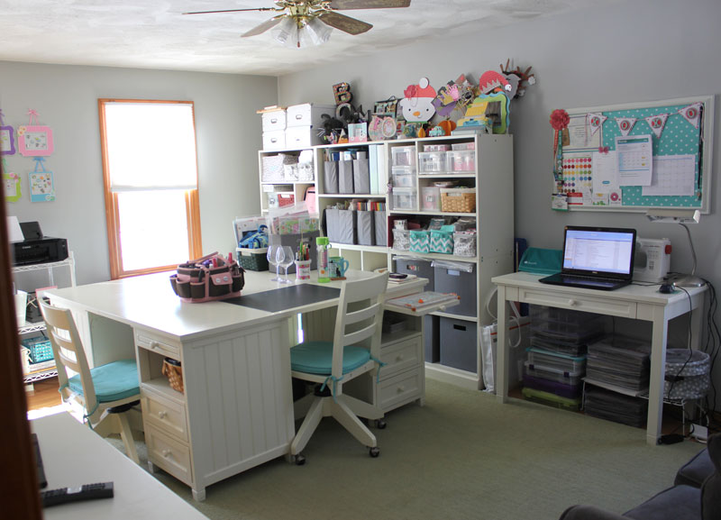 craft room desk ideas doodlebug design inc craft room tour with kathy 4021