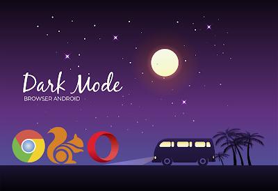 cara mengaktifkan dark mode browser