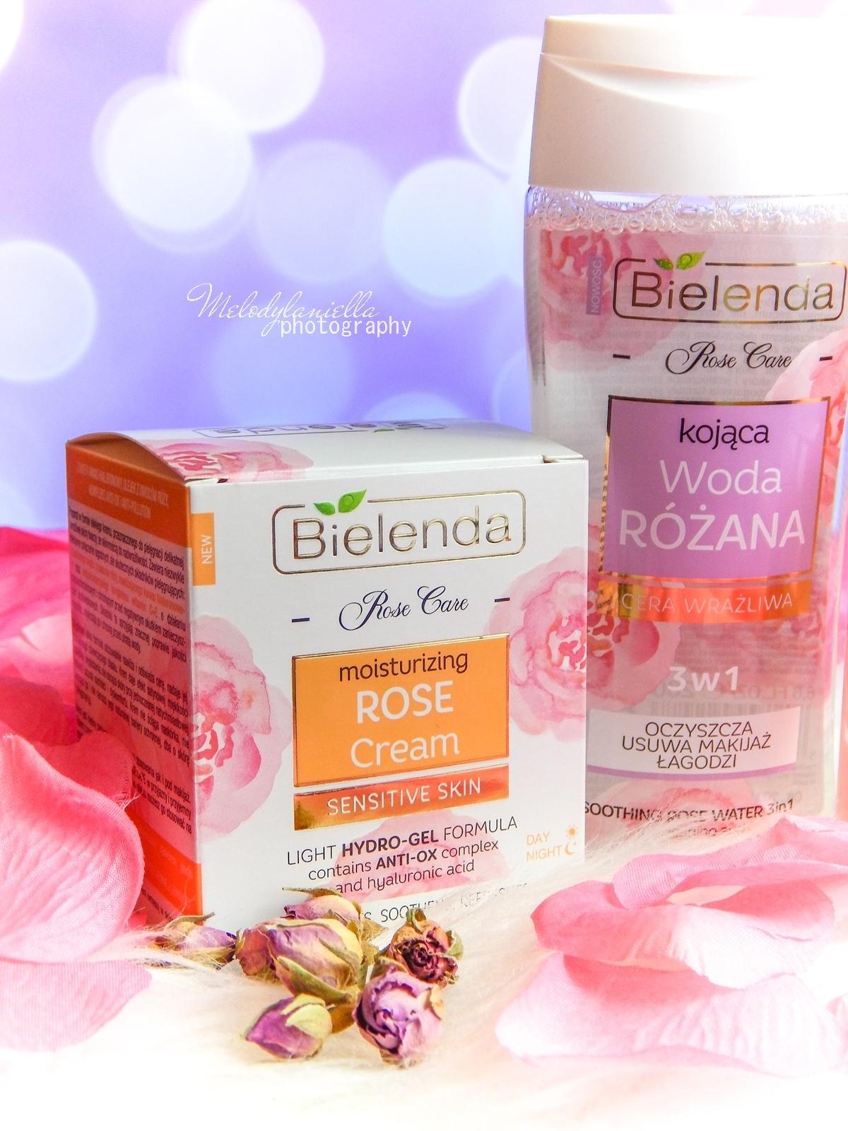 4 Bielenda rose care różany krem do twarzy recenzja kojąca woda różana 3w1 olejek różany do mycia twarzy produkty bielenda seria różana melodylaniella test produktów kosmetycznych ciekawe blogi lifestyle