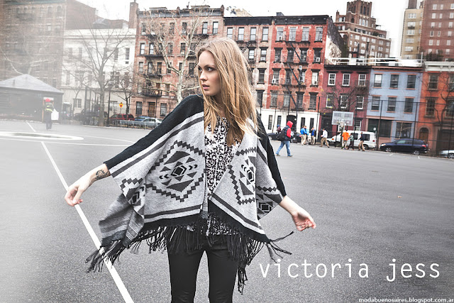 Ponchos y ruanas otoño invierno 2016 Victoria Jess,