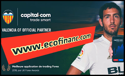VALENCIA CF est le partenaire officiel de plateforme capital.com.