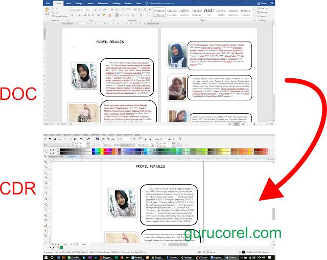 Cara Memasukkan Teks Ms Word Ke CorelDRAW Agar Tetap Rapi