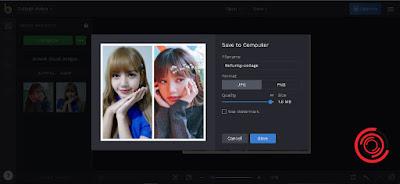 Terakhir pilih nama file fotonya, format, serta kualitasnya. Jika sudah pilih Save
