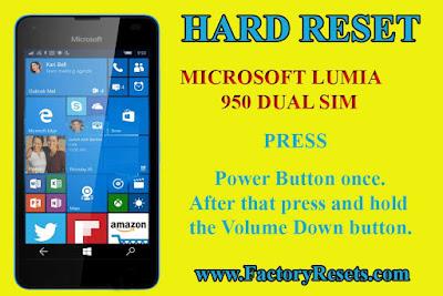 HARD RESET Microsoft Lumia 950 Dual SIM