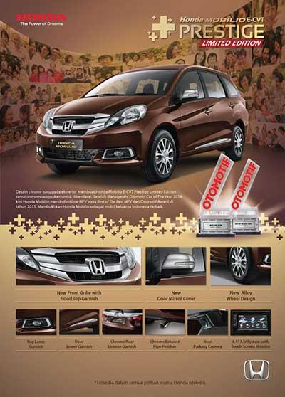 Promo Honda Mobilio Prestige Bandung 2016 Limited Edition