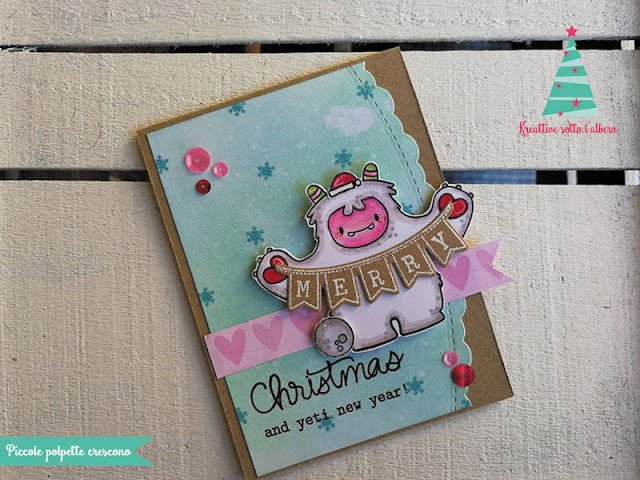 Card auguri natalizi in scrapbooking
