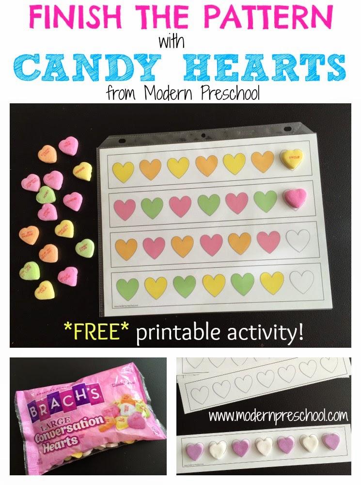 CANDY HEART PATTERNS {math activity}