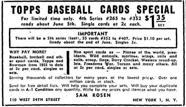 Marks Ephemera Sam Rosen Gordon B Taylor Baseball