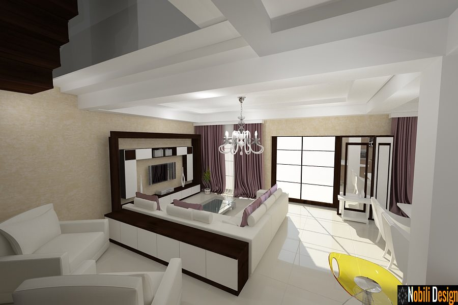 Design interior case moderne bucuresti servicii design for Casa moderna living