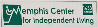 The Memphis Center for independent Living sign and logo