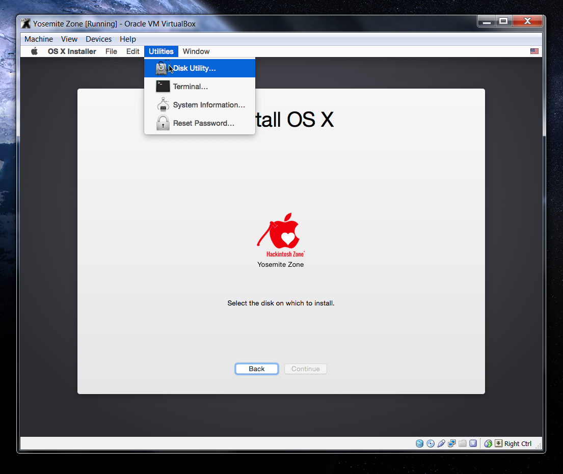 how to run osx on a pc virtualbox