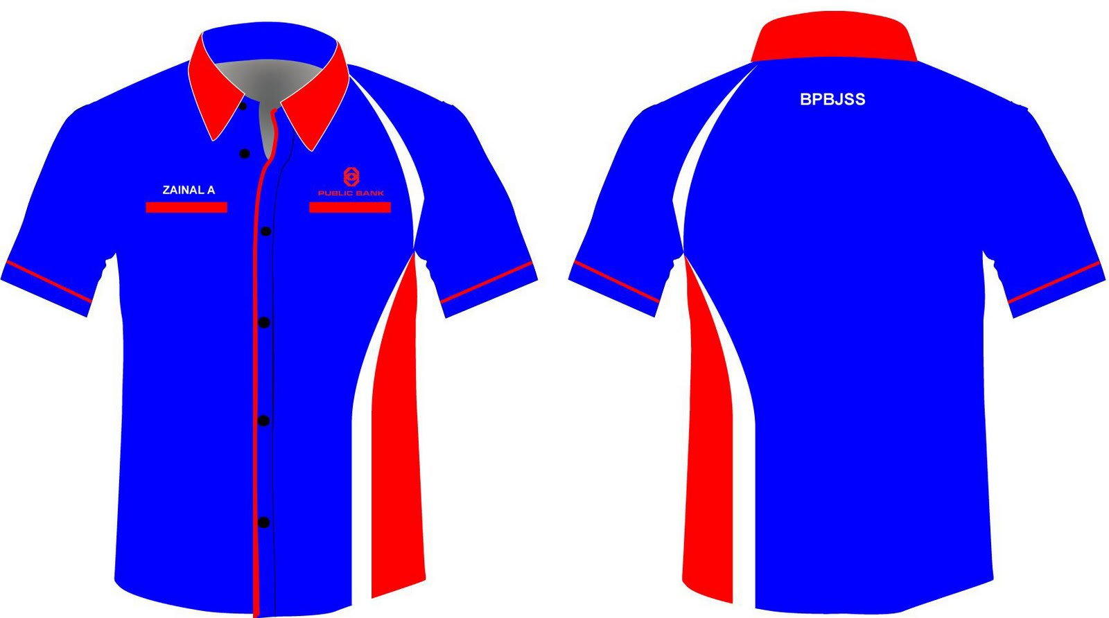 Corporat uniform public bank corporate shirts for Polo shirt uniform design