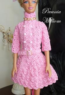 Casaco de Crochê Com Saia Godê Para Barbie  Por Pecunia MillioM 2