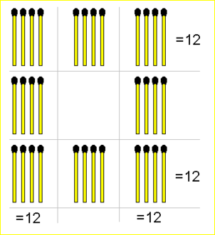 Hard 12 Matchsticks Puzzle