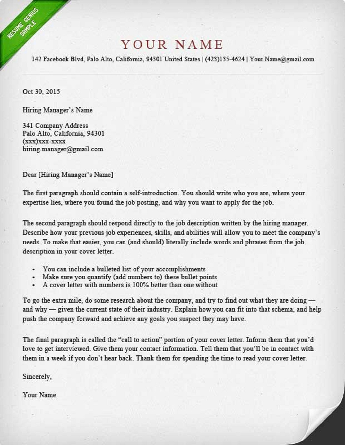 How to write a cover letter guide with sample how can done for What not to put in a cover letter