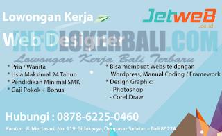 Loker Bali Terbaru di Jet Web Bali Juni 2018