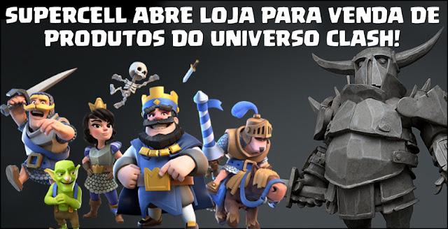 Supercell lança sua loja oficial de produtos Clash (Camisetas e action figures) - 1